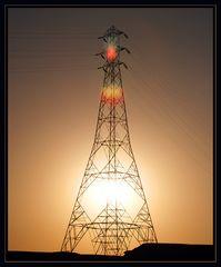Nil am Abend unter Strom.....