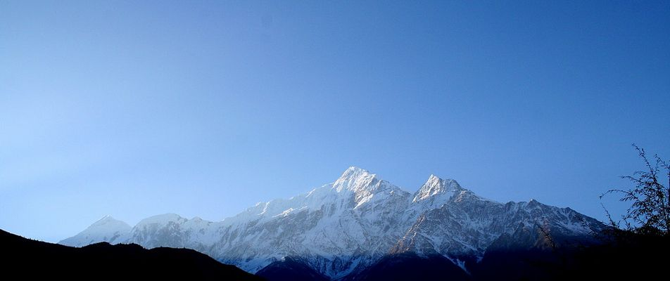 Nil Giri (White Mountain) seen from Jomsom