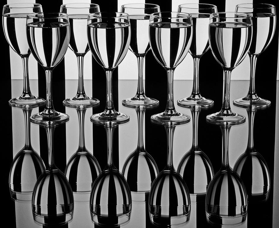 Nine Glasses Reflection