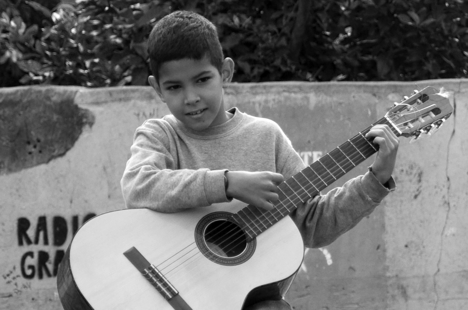 Niño con guitarra