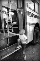 Niño omnibus, documental, fotoperiodismo,, Montevideo, Uruguay