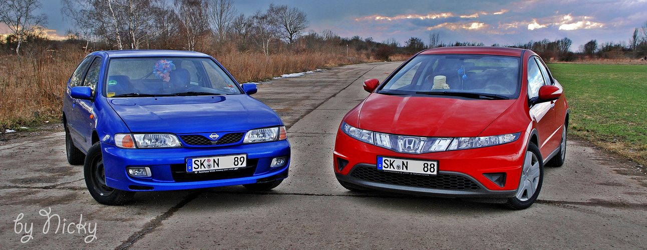 Nissan Almera vs. Honda Civic