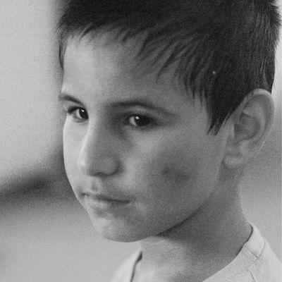 N.N., 8 Jahre. Nach dem Kickboxen