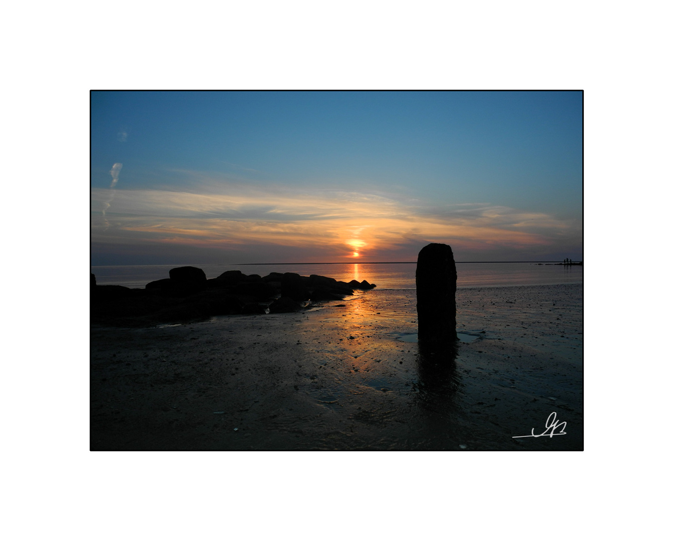 Noch ein Sonnenuntergang vor Borkum