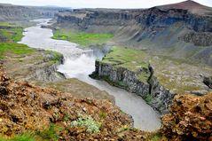 ... noch ein Wasserfall - diesmal der Hafragilsfoss unterhalb des Dettifoss