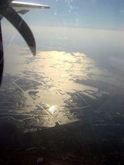 Noch immer: Lagune von oben