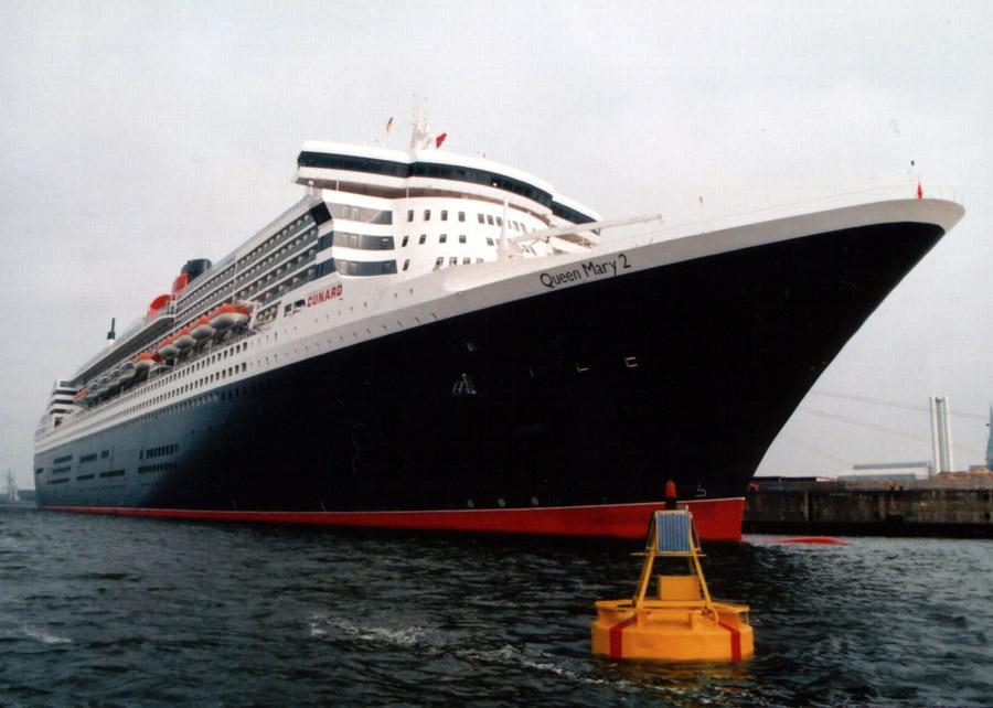 noch mal glück gehabt Queen Mary 2