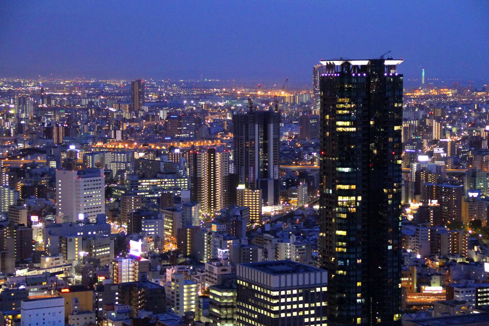 ..noch mehr Osaka zur blauen Stunde...