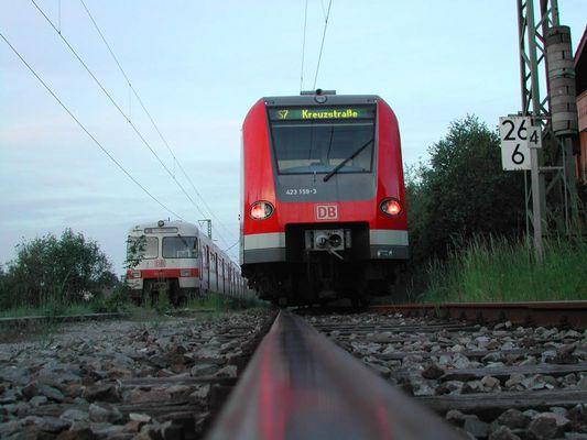 noch steht sie, die S-Bahn