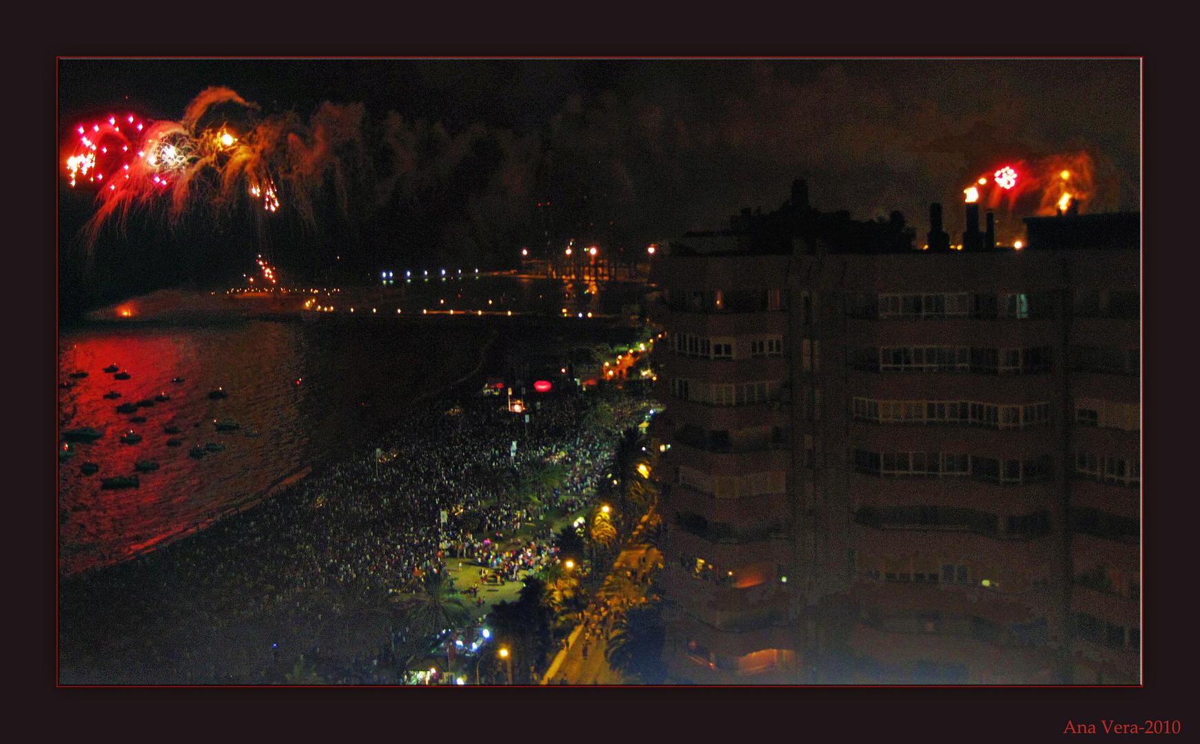 Noche de fuegos... Feria de Málaga, 2010