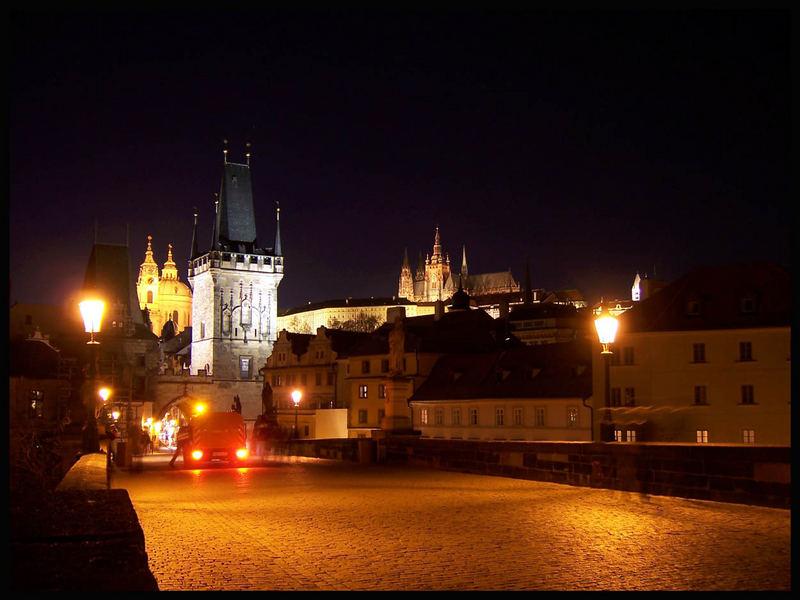 Noche mágica en Praga