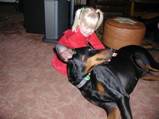 nochmal  Dobi mit aktivem Kind