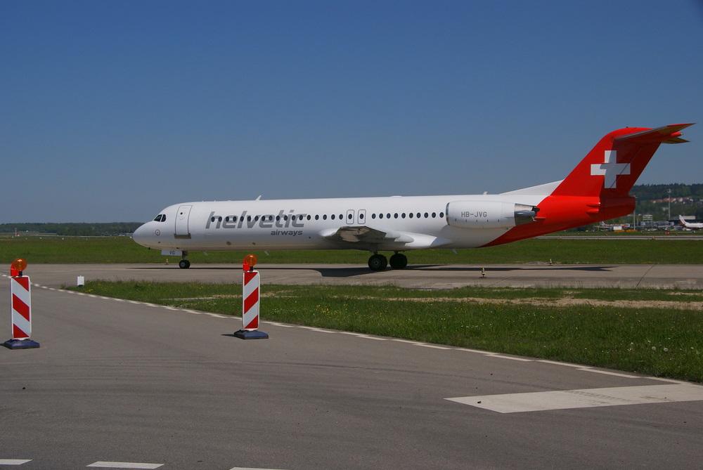 Nochmal Helvetic Fokker 100