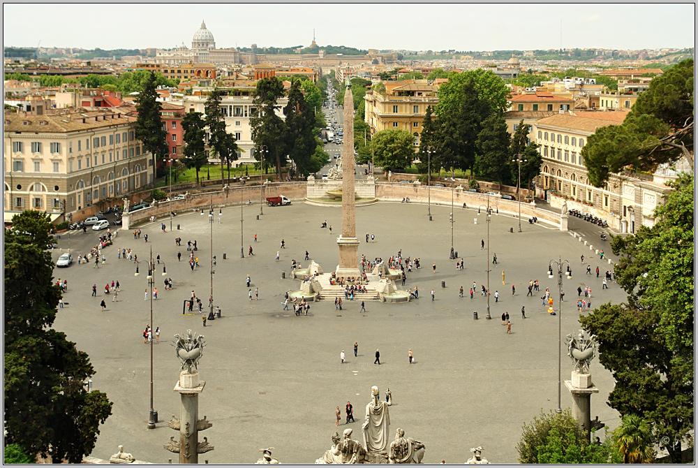 Nochmal Piazza del Popolo...