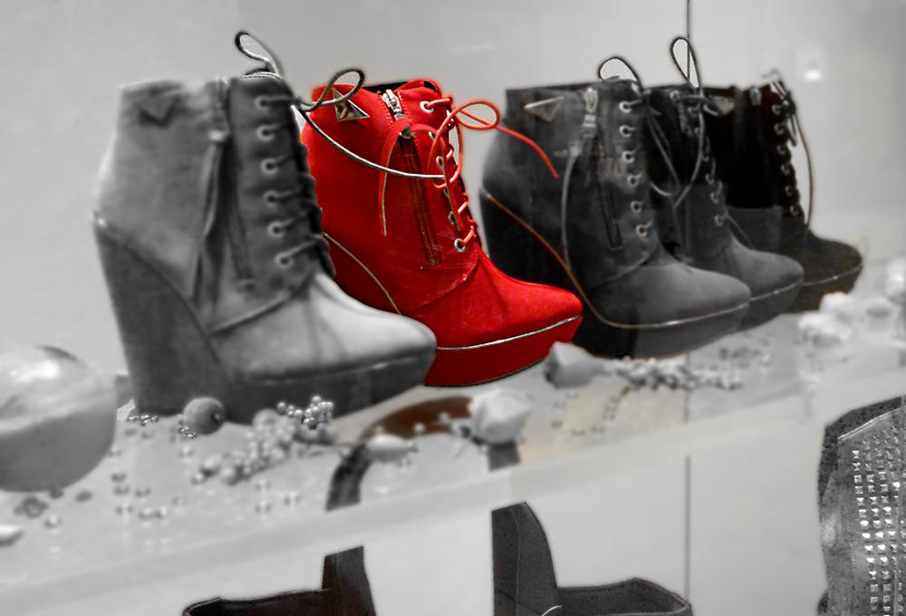 Nochmal roter Schuh