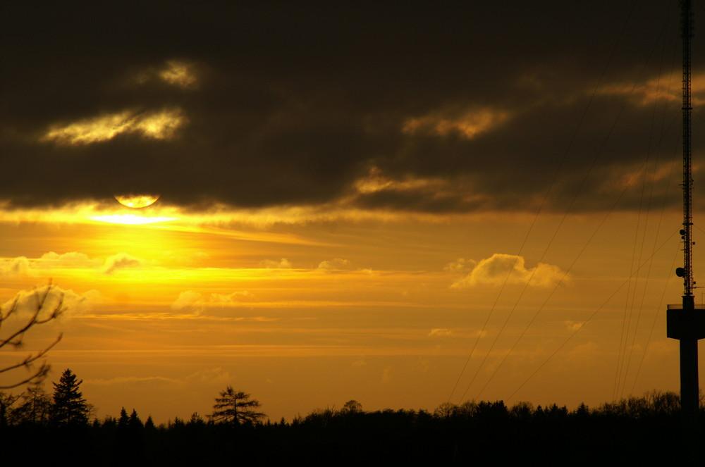 nochmal Waldenburg bei Sonnenuntergang