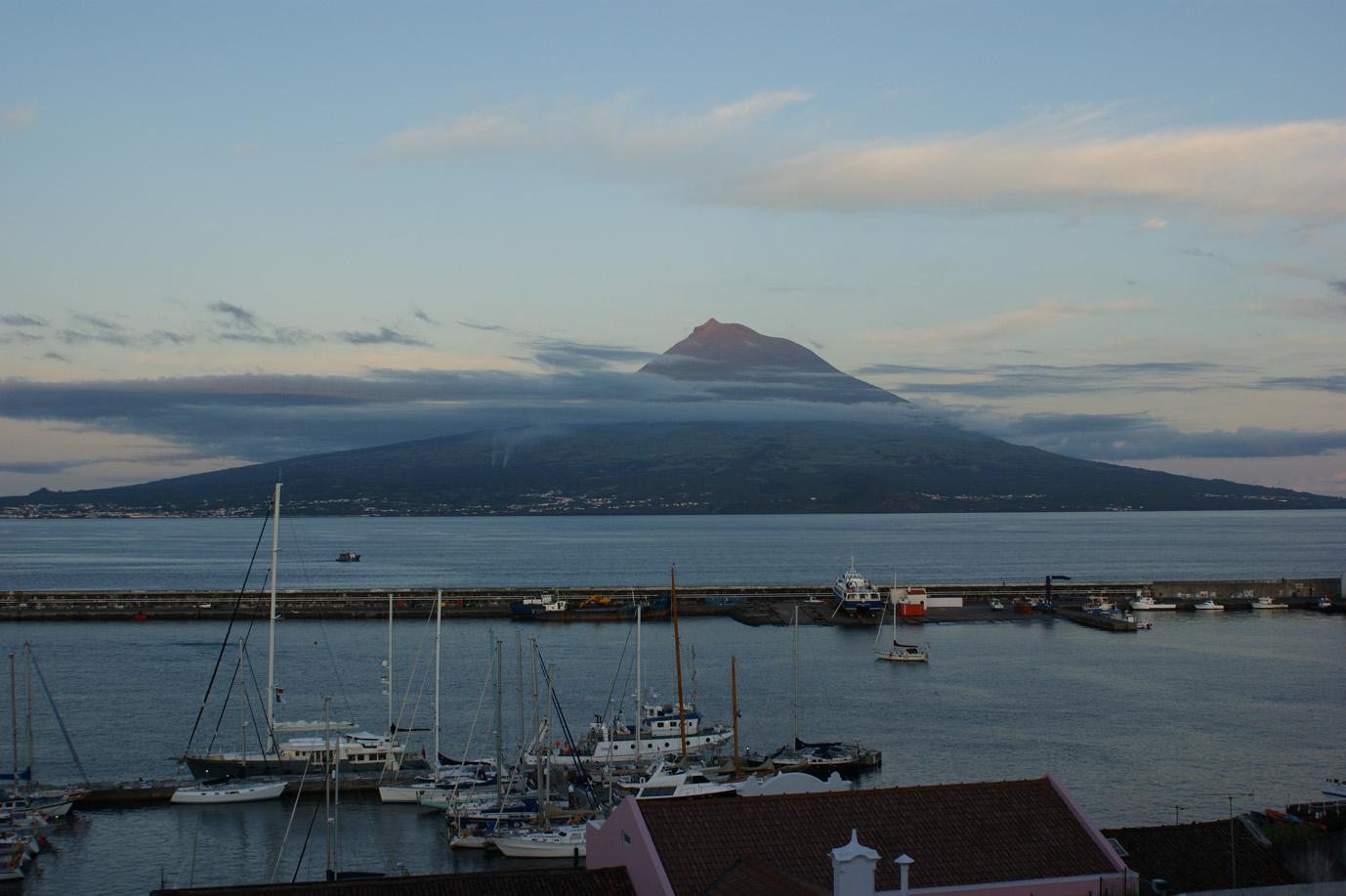 nochmals der Pico Berg beim Sonnenuntergang