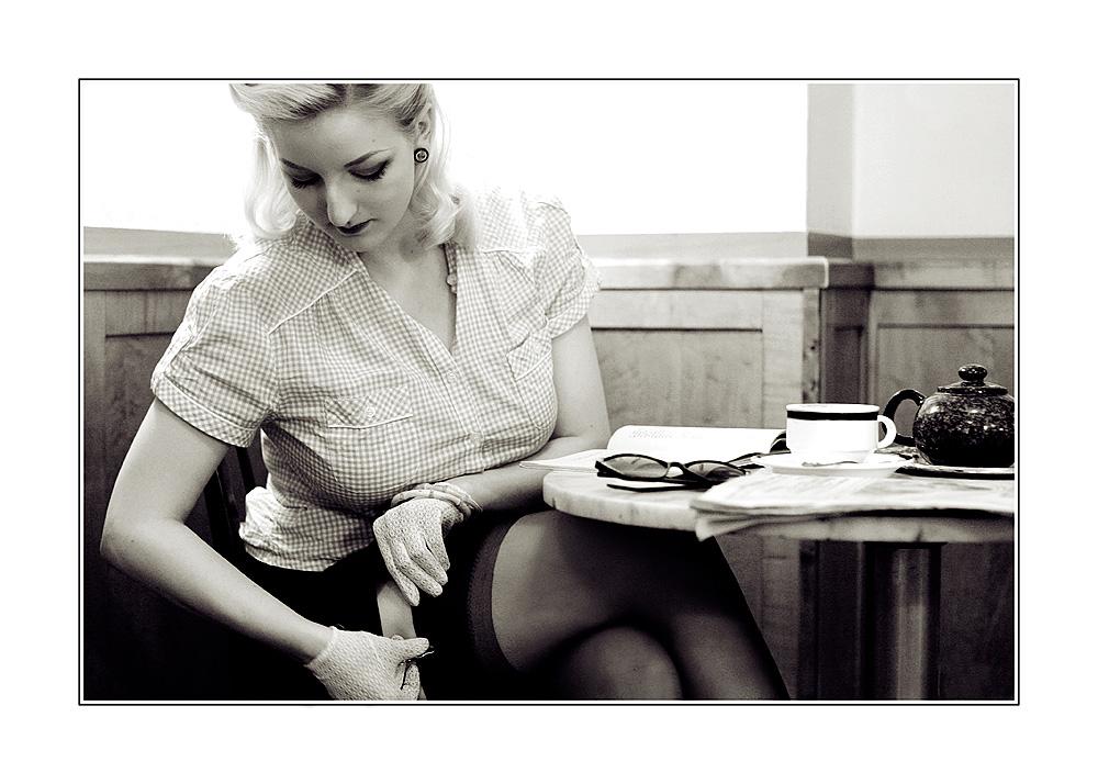 ... nochmals im Cafe ...
