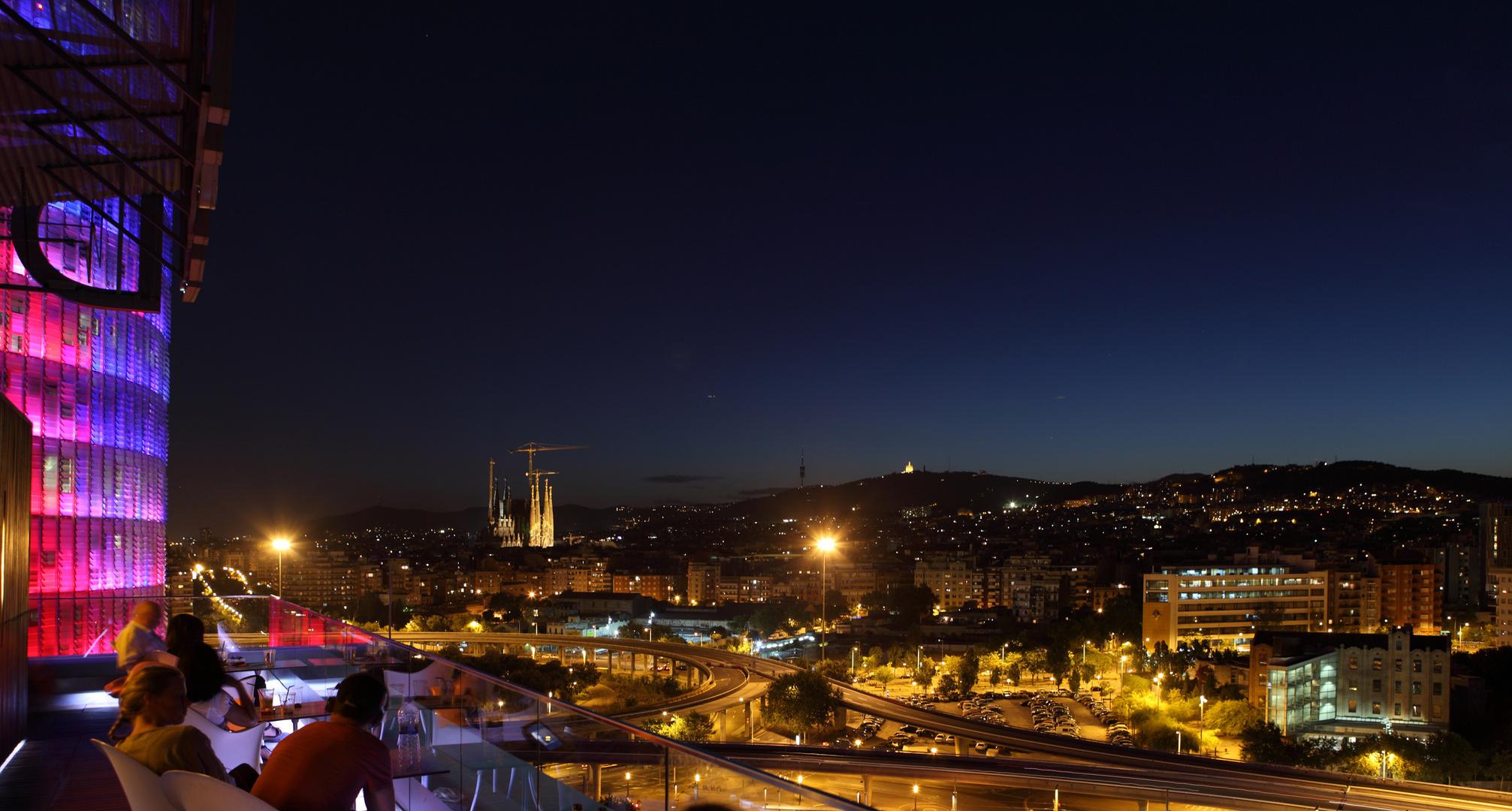 Nocturna de BCN desde l'Hotel Silke