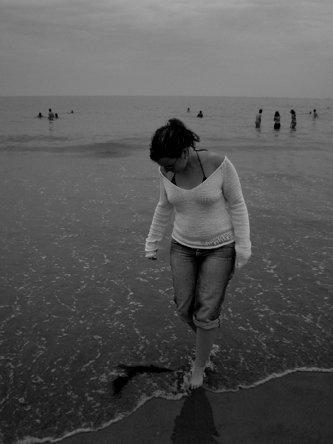 Noémie à la plage