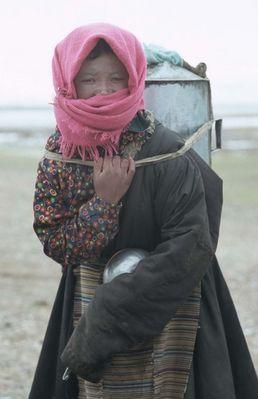 nomadenfrau am nam tsoh lake