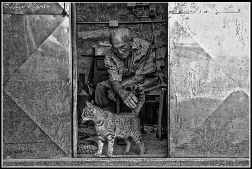 Nonno Carlo e il gatto
