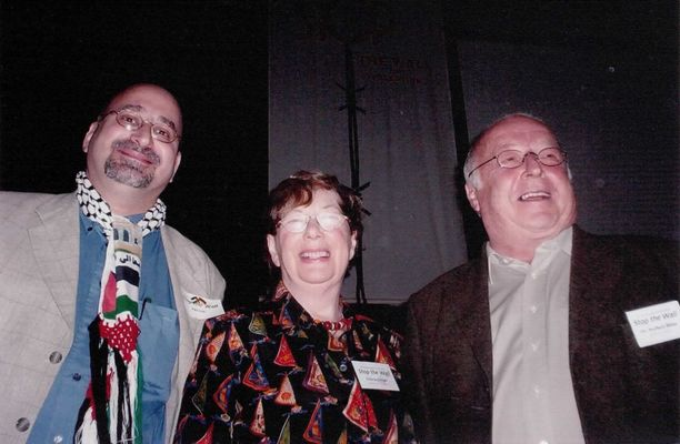 Norbert Blüm, Felicia Langer and Dr. Norman Ali Khalaf at Stop the Wall in Palestine Conference 2004