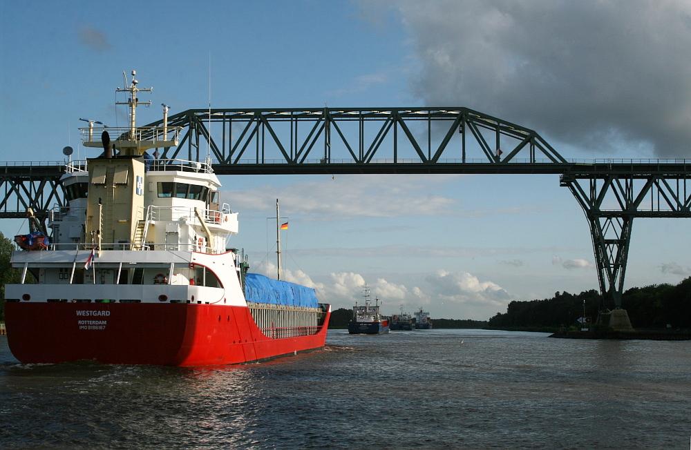 Nord-Ostsee-Kanal, Eisenbahnhochbrücke bei Hochdonn
