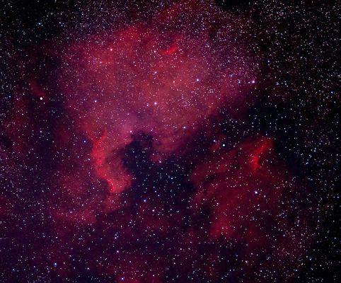 Nordamerika-Nebel NGC 7000 und Pelikannebel IC 5070  -Neuer Versuch-