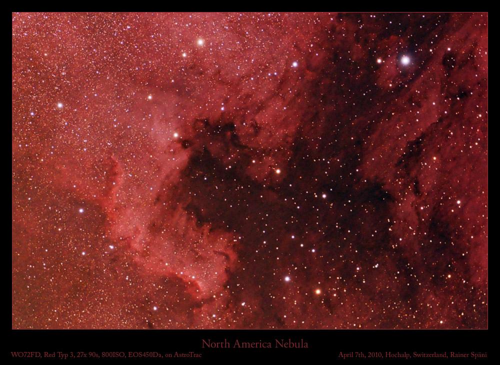 Nordamerika Nebel, NGC7000