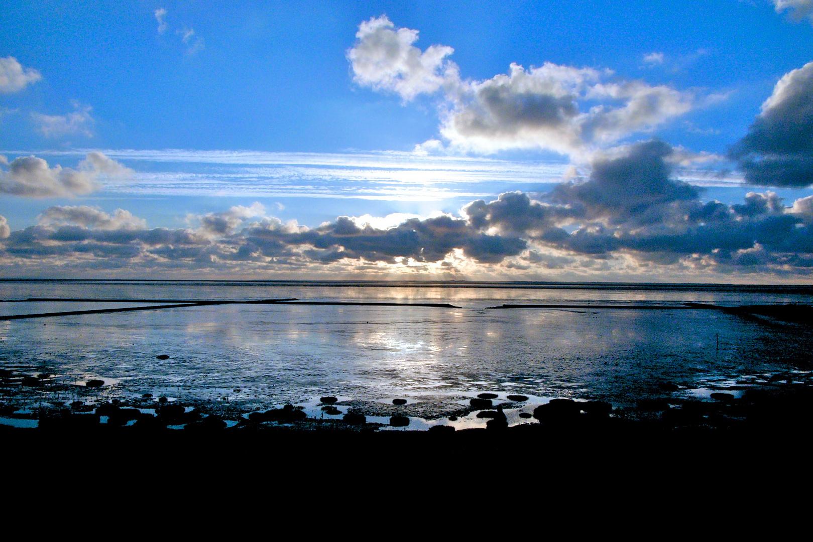 Norden-Norddeich - blaue Stunde