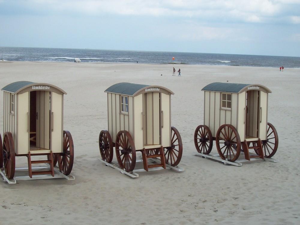 """Norderneyer """" Strandumkleiden"""""""