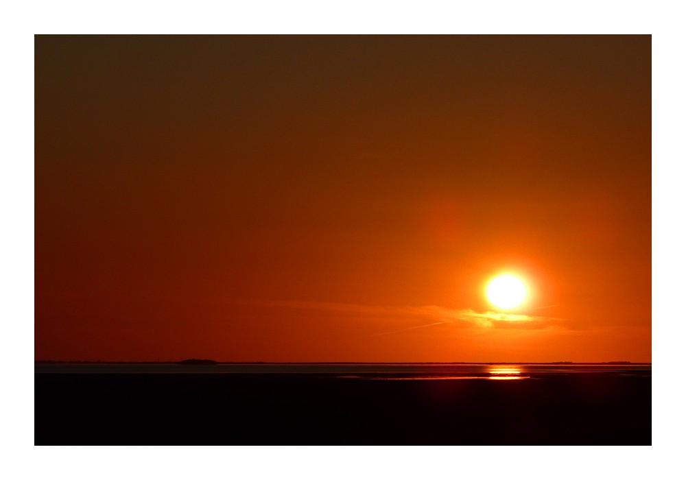 Nordfriesischer Sonnenuntergang