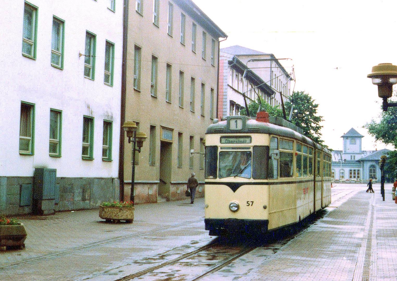 Nordhausen 57 Fußgängerzone am Bahnhof 1986