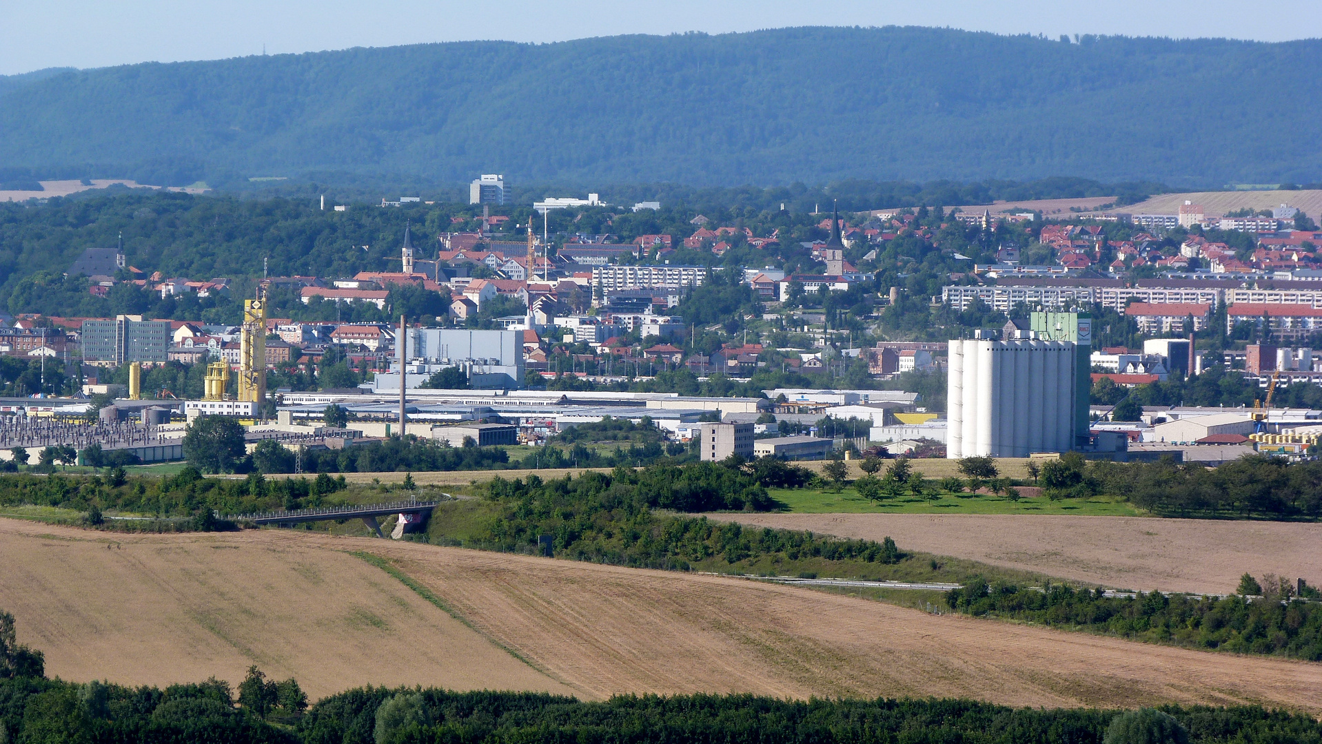 Nordhausen am Harz von Süden