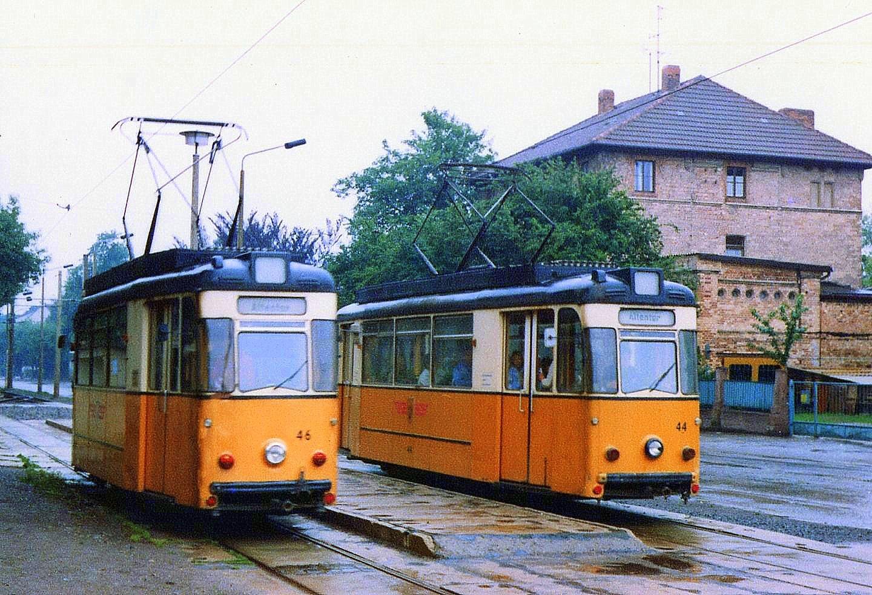 Nordhausen Ausweiche Grimmel 46+44 1986