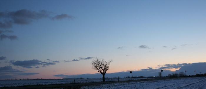 nordischer sonnenuntergang