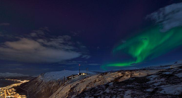 Nordlicht am Fjellheisen