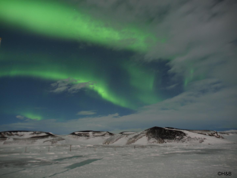 Nordlicht am Myvatn Lake Island