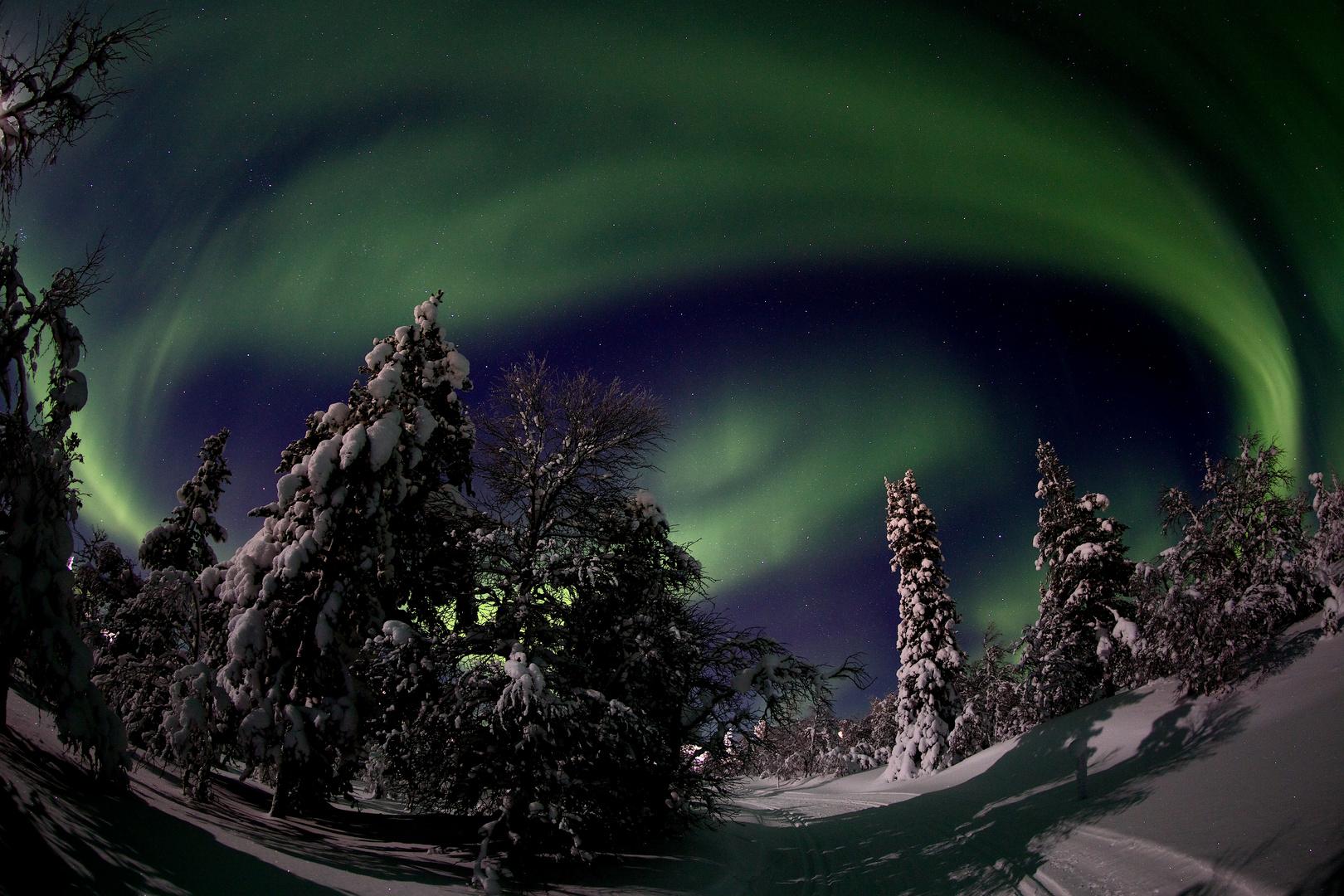 Nordlicht Finnisch Lappland