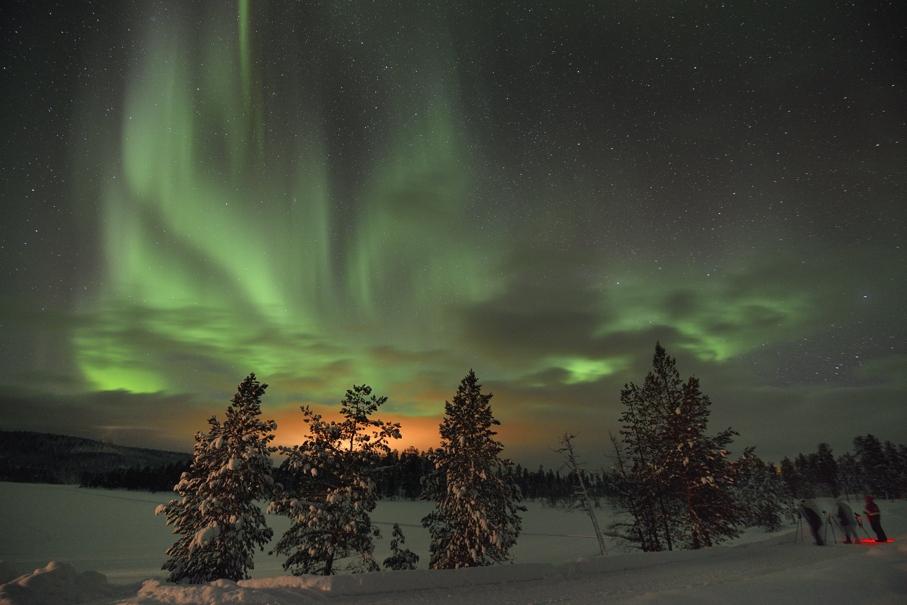 Nordlicht in Lappland, Februar 2013