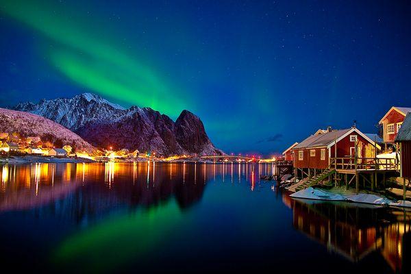Nordlicht in Reine / Lofoten,Norwegen