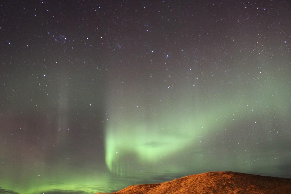 Nordlicht Island bei Skaftafell