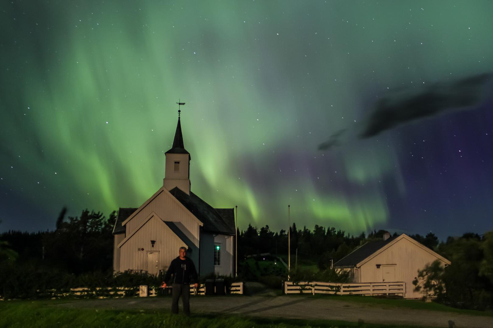 Nordlicht + Kirche + Ich