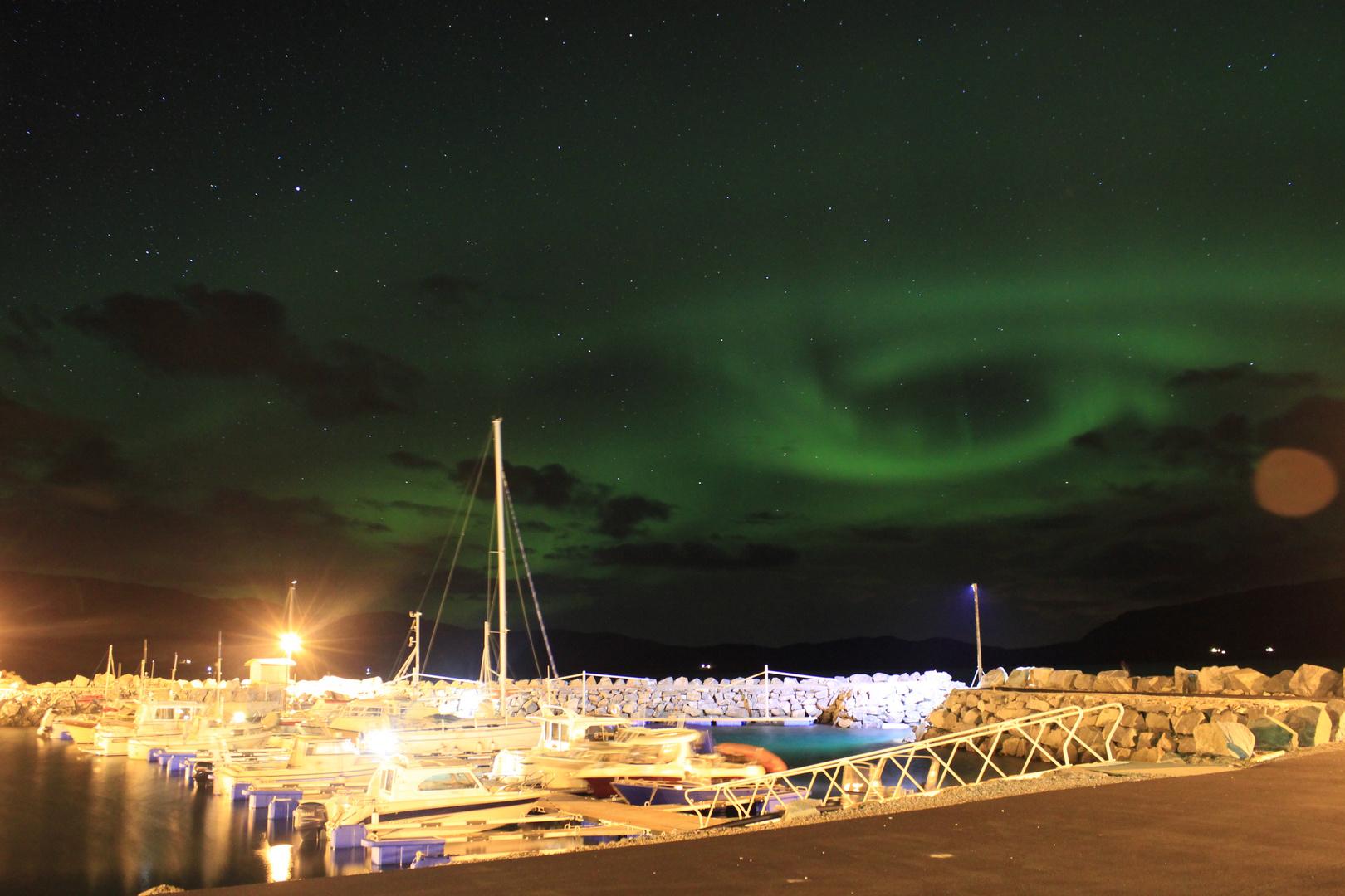 Nordlicht Terråk Hafen