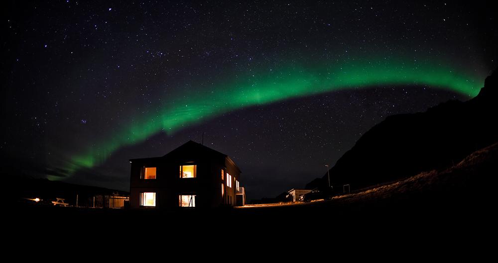 Nordlicht über dem Vatnsdalur - Island #1005