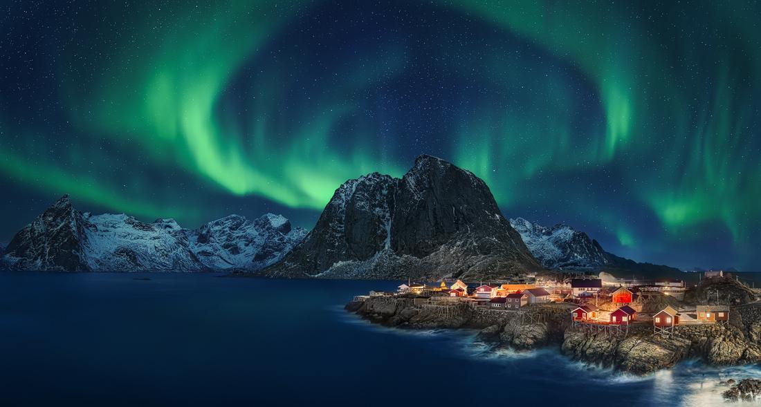 Nordlicht über Hamnøy