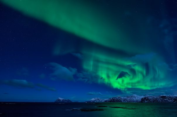 Nordlicht über Håja