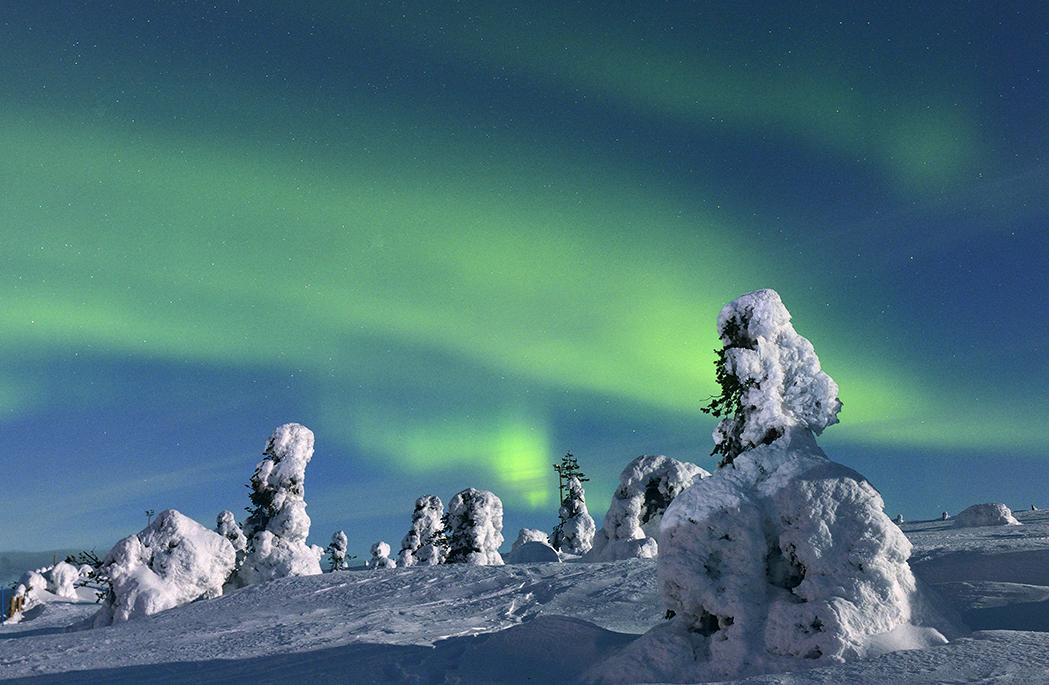 Nordlicht über Lappland, Februar 2013