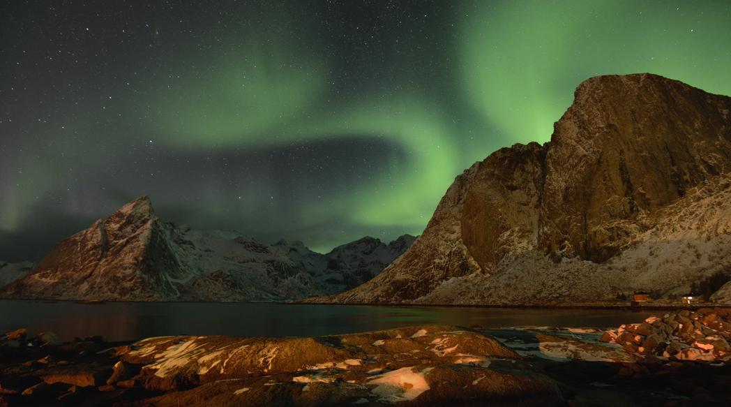 Nordlicht über Lofoten, März 2013